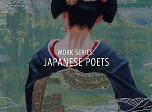 """Der Künstler Viktor Cleve. Die Werkserie """"Japanese Poets"""" ist eine Hommage an japanische Dichterinnen und Dichter"""