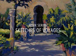 """Der Künstler Viktor Cleve. Die Werkserie: """"Sketches of voyages"""""""