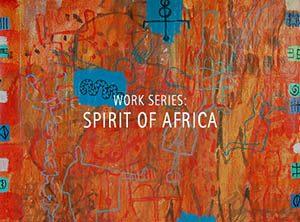 """Der Künstler Viktor Cleve. Die Werkserie: """"Spirit of africa"""""""