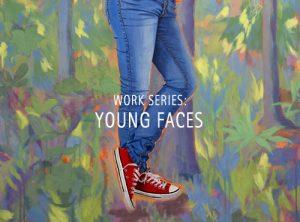 "Der Künstler Viktor Cleve. Die Werkserie: ""young faces"""
